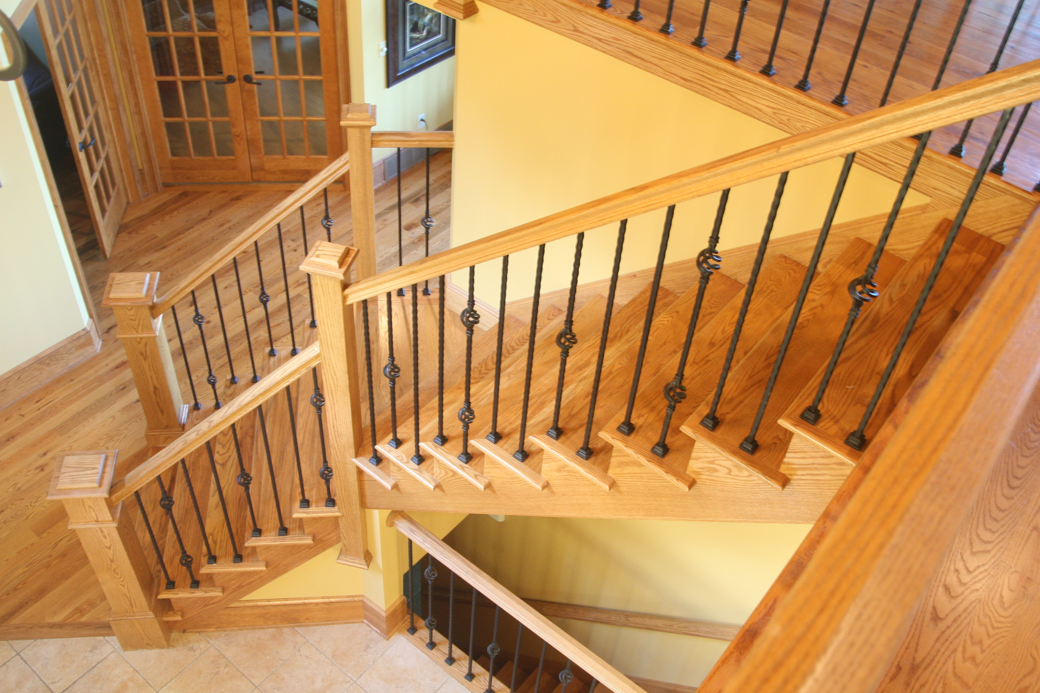 Design Handrails For Stairs bennett stair company inc home walnut circular wood iron