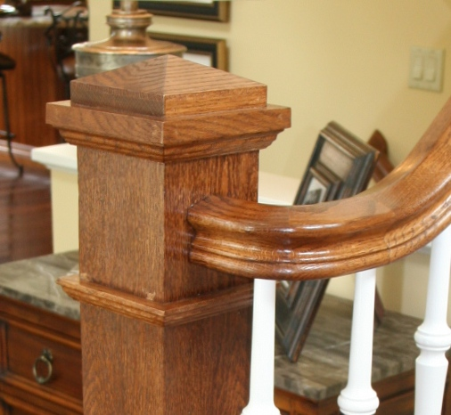 A round step may have a volute turn out or box newel post. & Bennett Stair Company Inc. - Design Center Aboutintivar.Com